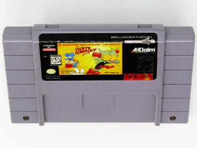 The Itchy and Scratchy Game (Super Nintendo / SNES)