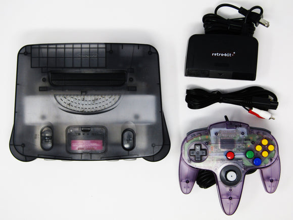 Funtastic Smoke Black Nintendo 64 System + 1 Official Atomic Purple Controller (Nintendo 64 / N64)
