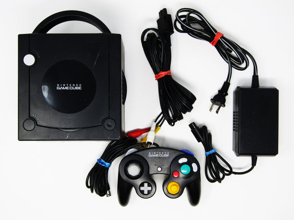 Black Nintendo Gamecube + 1 Black Controller