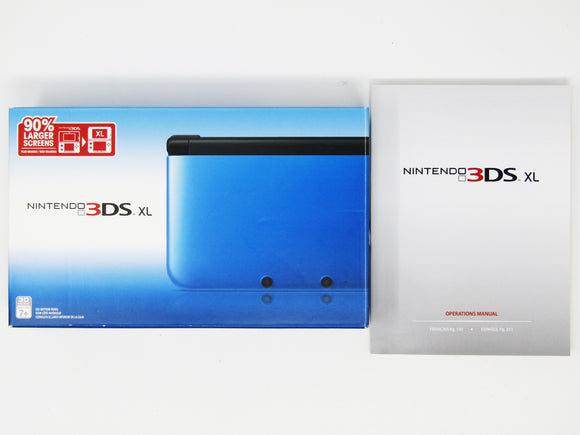 Nintendo 3DS XL Black and Blue System