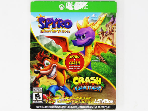Spyro Reignited Trilogy & Crash Bandicoot N Sane Trilogy (Xbox One)