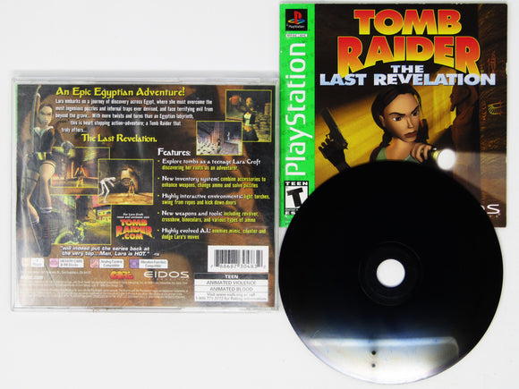 Tomb Raider Last Revelation [Greatest Hits] (Playstation / PS1)