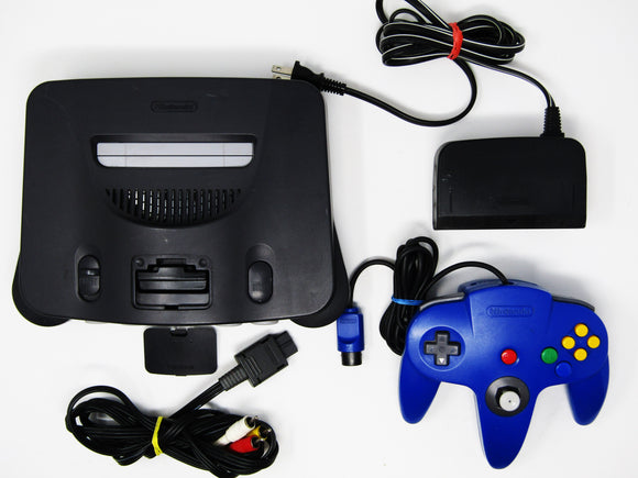 Nintendo 64 System + 1 Official Blue Controller