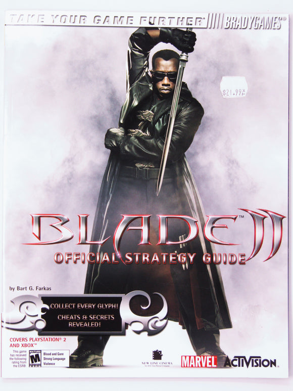 Blade II 2 Official Strategy Guide [Brady Games] (Game Guide)