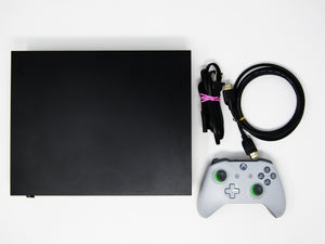 Xbox One X 1 TB Black System + 1 Gray & Green Wireless Controller