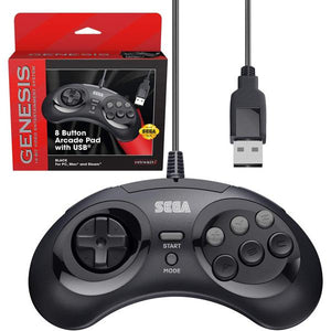 6 Button Arcade Pad with USB Retro-Bit - Sega Genesis