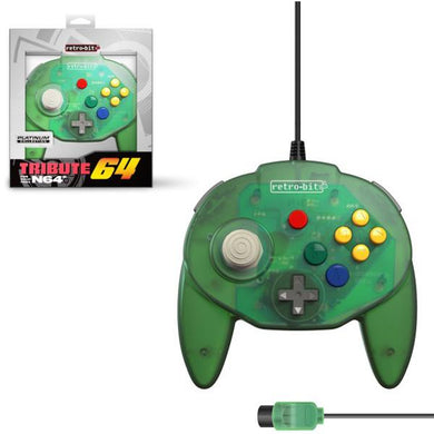 Forest Green Tribute 64 N64 Controller [Retro-Bit]