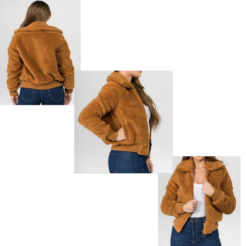 Faux Fux Bomber Jacket; fashion...
