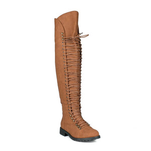 Over The Knee Lace Up Boots - Lookeble