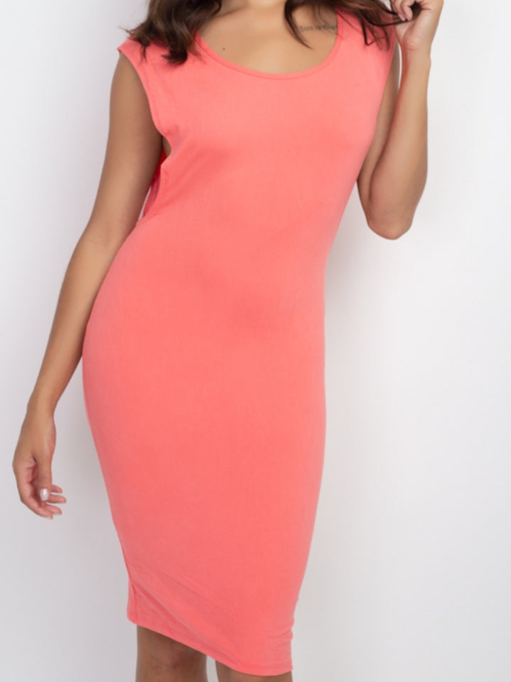 Cut Out Side Bodycon Dress - Lookeble