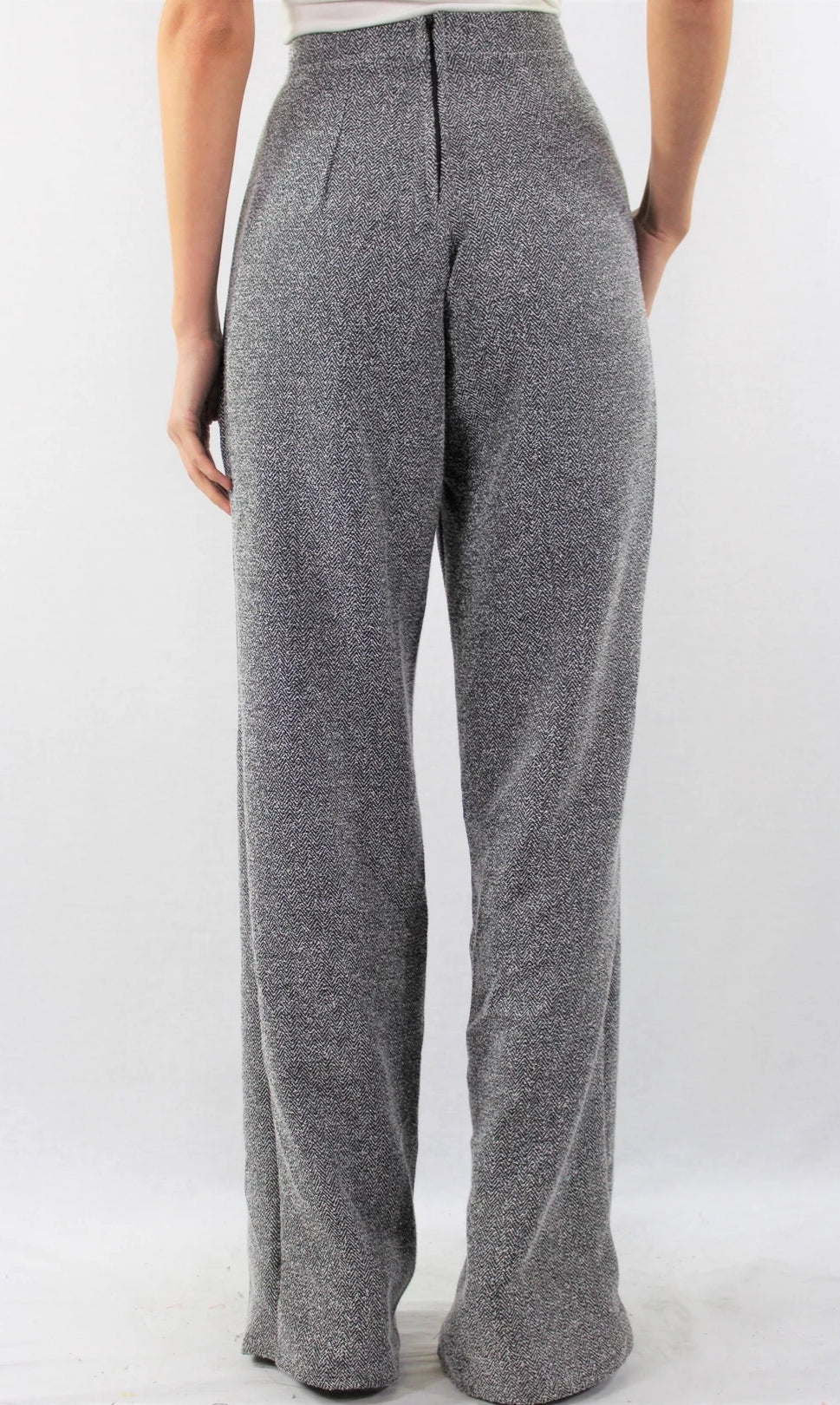 High Waist Bell Foot Pants - Lookeble