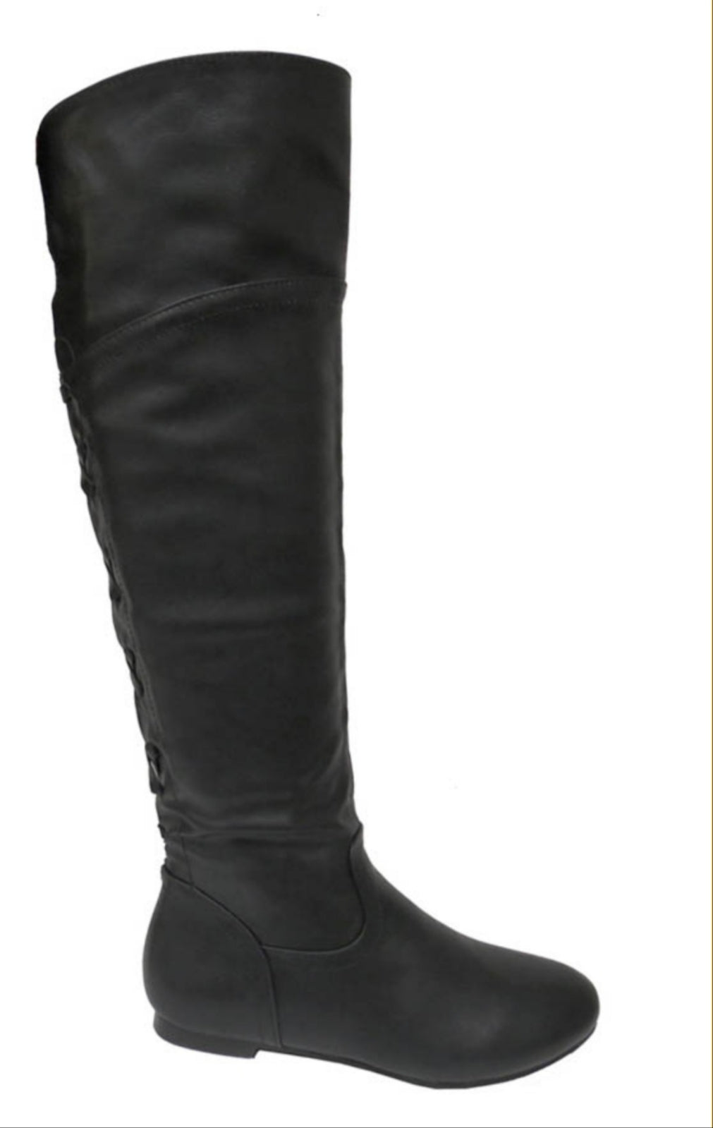 Low Block Heel Knee High Boots - Lookeble