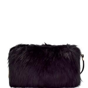 Faux fur clutch cross body - Lookeble