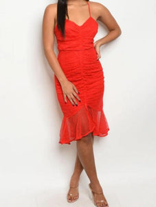 Red Lace Dress - Lookeble