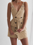 V Neck Sling  Dress - Lookeble