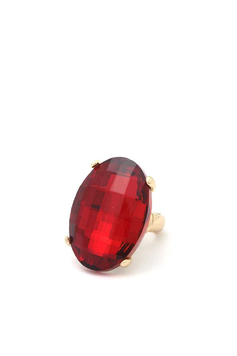 Oval Bejeweled Ring