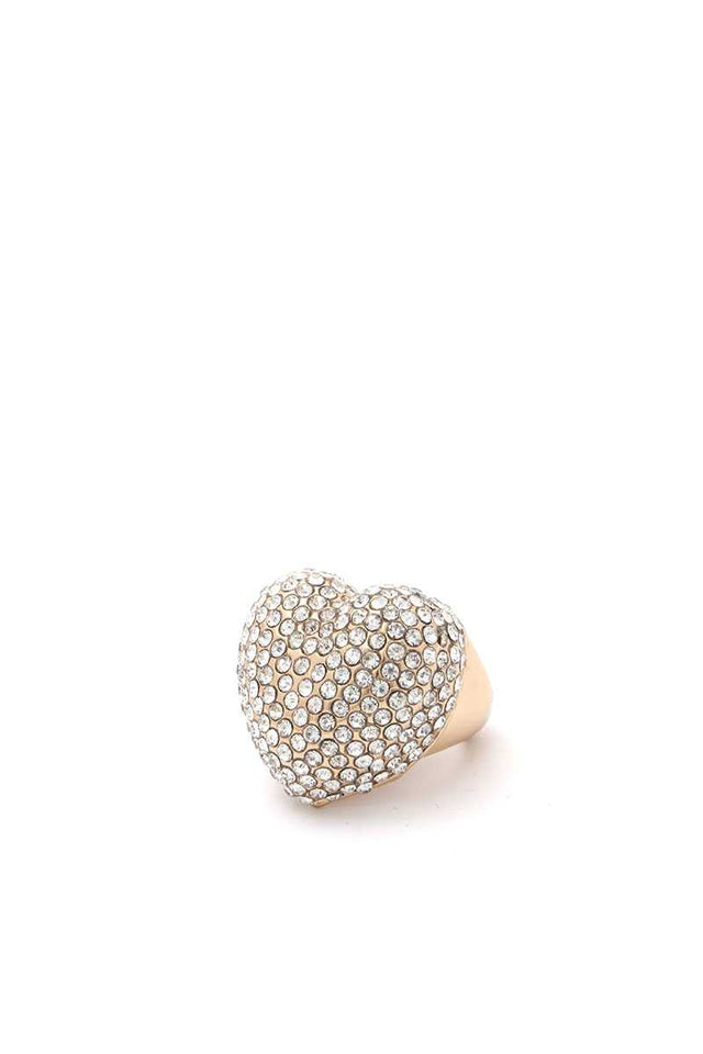 Bling Heart Shape Ring - Lookeble