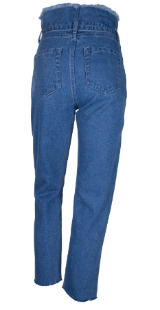 High Waist Jeans With Belt - Lookeble