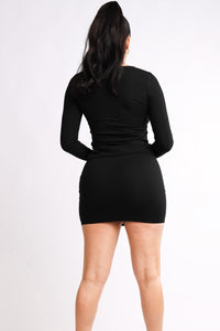 Double Zip Top and Mini Skirt Set - Lookeble