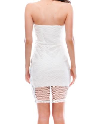 Mesh Bodycon Tube Dress - Lookeble