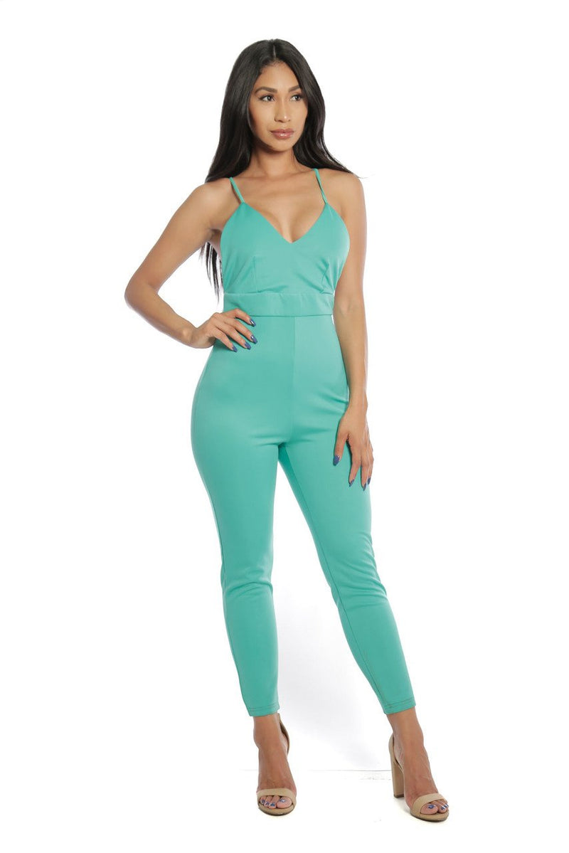 Mint Long Romper - Lookeble