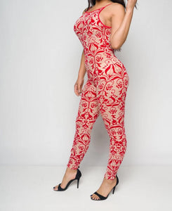 Baroque Embellishments Velour Jumpsuit - Lookeble