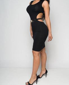 Open Back With Belt Mini Dress