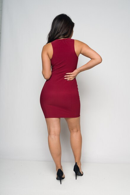 Full Zipper Bodycon Dress - Lookeble
