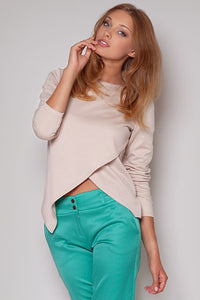 Cut Out Front Crop Top - Lookeble