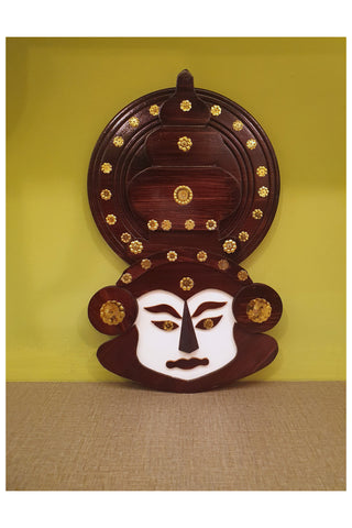 Southloom Handmade Kathakali Face Handicraft (Carved from Mahogany Wood)