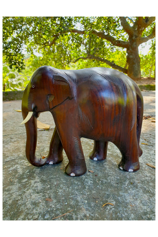 Southloom Handmade Elephant Handicraft (Carved from Rose Wood) 6 Inches