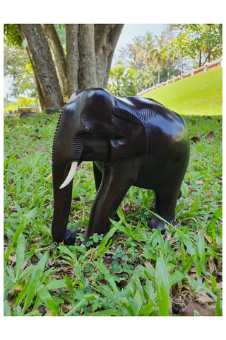 Southloom Handmade Elephant Handicraft (Carved from Mahogany Wood) 6 Inches