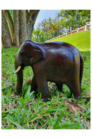Southloom Handmade Elephant Handicraft (Carved from Rose Wood) 8 Inches