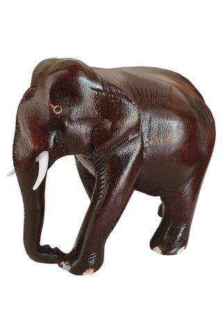 Southloom Handmade Elephant Handicraft (Carved from Mahogany Wood) 5 Inches