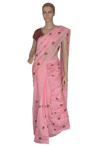 Southloom Rose Silk Designer Saree with Embroidery Work