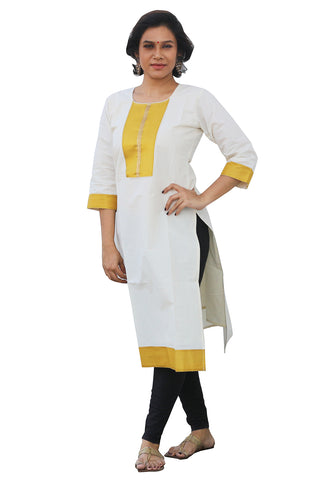 Southloom Kerala Women's Salwar / Churidar Top with Yellow Design