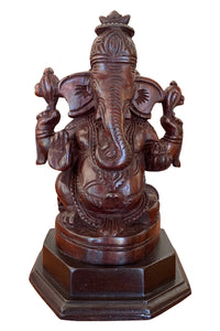 Southloom Handmade Ganesha Handicraft 10 inches (Carved from Rose Wood)