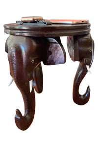 Southloom Handmade Elephant Head Flower Pot Stand Handicraft 9 inches (Carved from Mahogany Wood)
