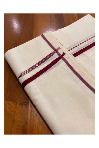 Mundu with Black and Silver Puliyilakkara Kasavu Border (South Indian Dhoti)