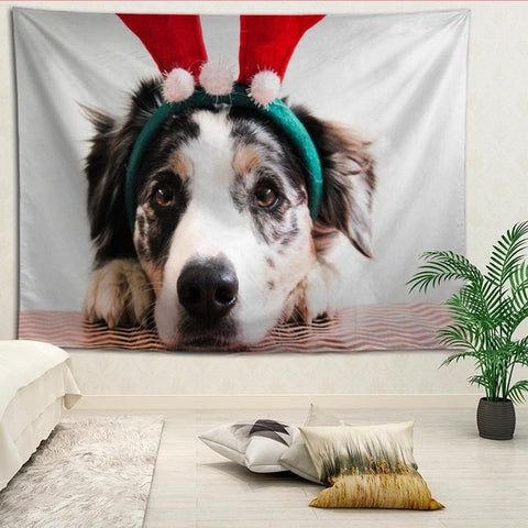 Christmas Dog Tapestry Many Different Variants