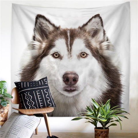 Cute Siberian Husky dog Tapestry