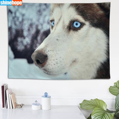 Beautiful Husky Tapestry