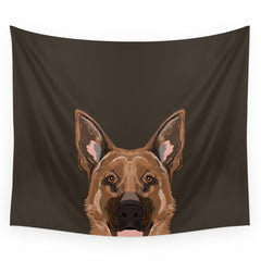 German Shepherd Print Wall Tapestry