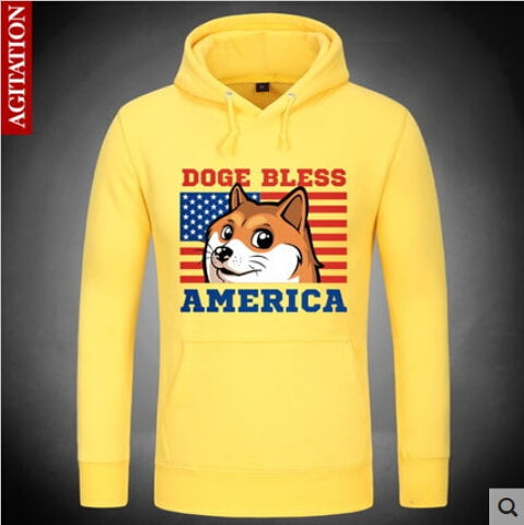 [XHTWCY] 2019 New Women/Men Funny Head doge Hoodies God dog/shiba coat  Pocket Doge Sweatshirts