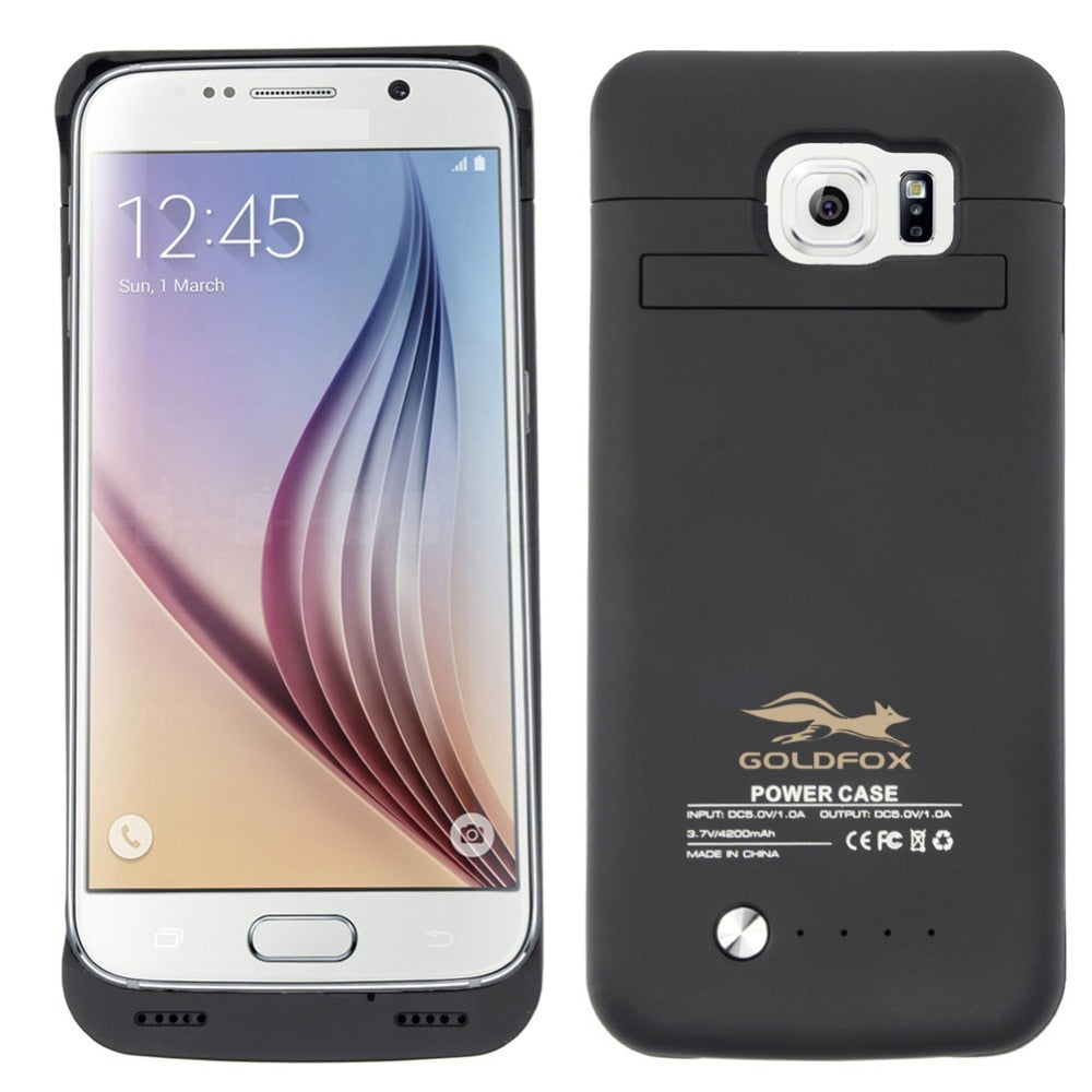 4200mah Battery Charger Case For Samsung Galaxy S6/ S6 Edge