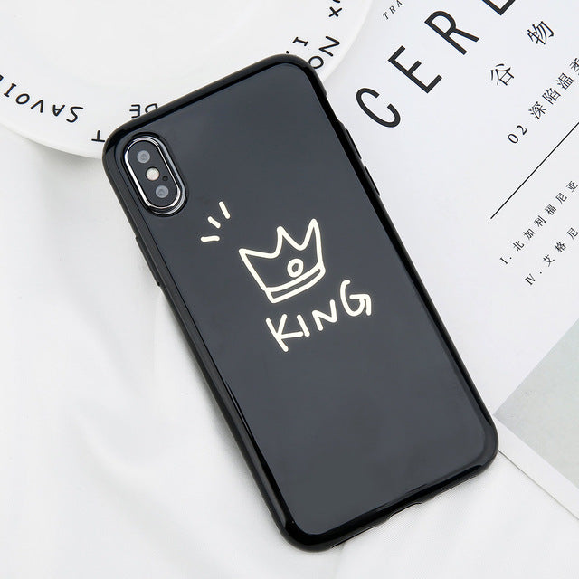 Glossy Crown Case For iPhone