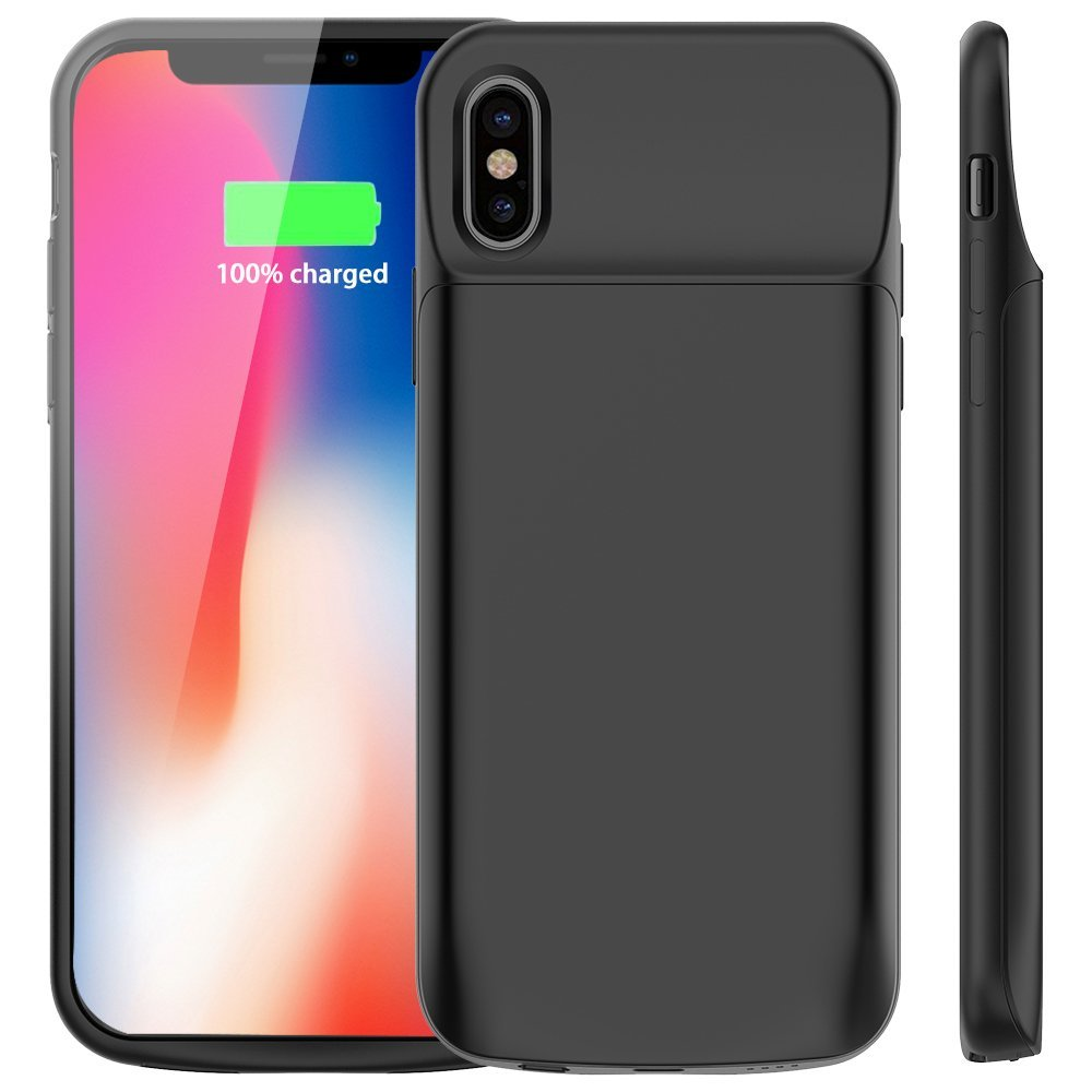 6000mAh Battery Charger Case for iPhone X
