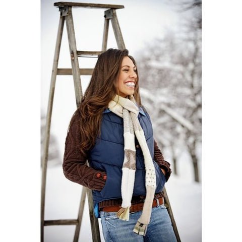 Women's Winter Skinny Scarf in Neutral