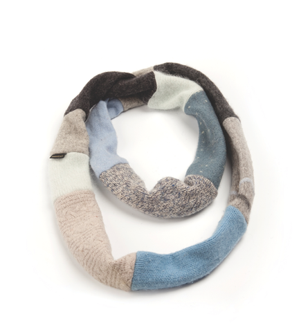 Women's Winter Infinity Scarf in Denim