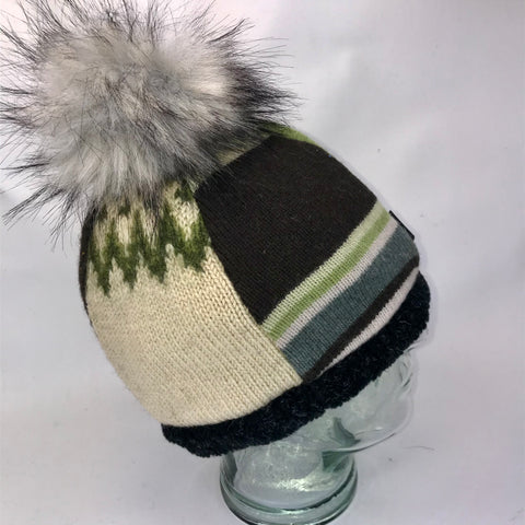 One of a Kind Pom Pom Hat 142